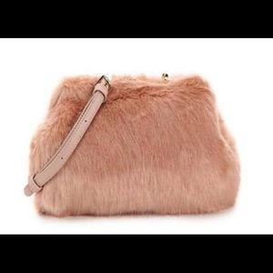 Urban expressions VEGAN Faux Fur blush clutch bag